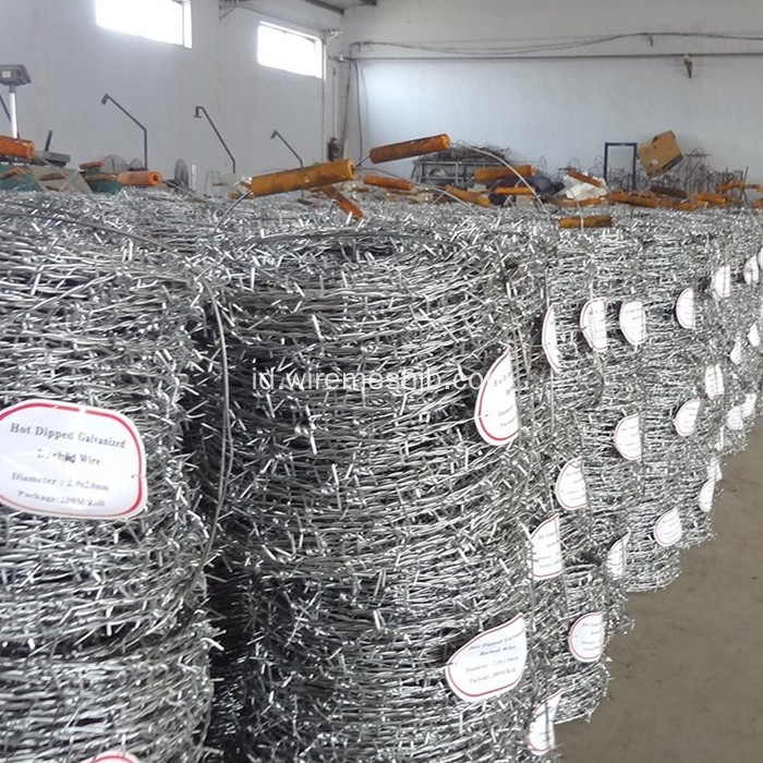 Galvanized Double Strand Barbed Wire Common Twist