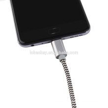 2017 cable de nylon del tipo C USB del ODM del OEM para el cable de Samsung S7 Android USB