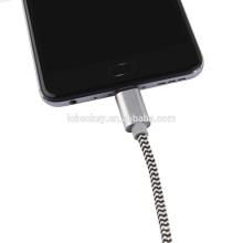 2017 OEM ODM Нейлон Тип C USB-кабель для Samsung S7 Android USB-кабель