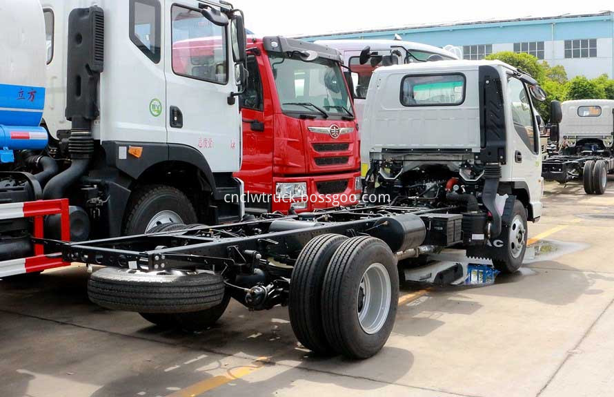 truck mounted water tank chassis 3