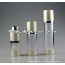Venda quente 15.30.50ml Rotary cosmético airless bomba garrafa plástico airless garrafa airless soro garrafa