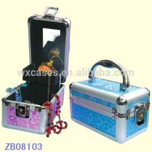 New arrival aluminum jewelry case with a tray inside