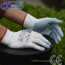 NMSAFETY 13g nylon revestido nitrilo mão luvas de trabalho de boa qualidade