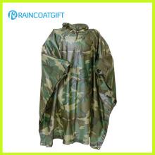 Polyester-PVC-Tarnungs-Regenmantel (RPE-147)