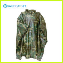 Impermeable de camuflaje de PVC de poliéster (RPE-147)