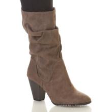 Красивый дизайн легко потяните-на средний-икры ботинки Женская Сутулиться середины икры сапоги