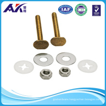 Stainless Steel or Brass 2-1/4-Inch Bowl to Floor Bolts