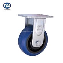 Rodízio resistente da roda de borracha de 6 polegadas