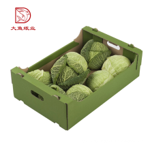 Oem customized size disposable corrugated vegetables and fruits box