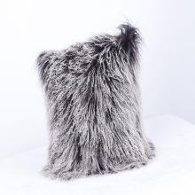 2018 Wholesale Fancy Mongolian Lamb Fur Throw Pillow