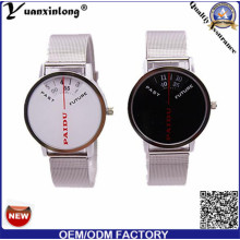 Yxl-733 Paidu 58973 Unisex Japan Quartz Watch Stainless Steel Case with Stainless Steel Dise Band
