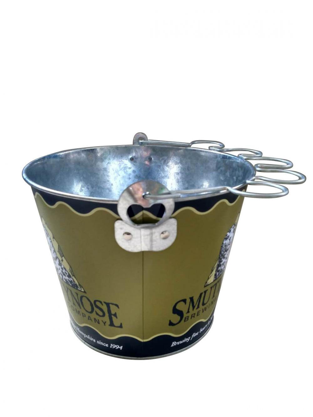 Ice bucket with glass holder