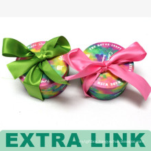 Fashional Round Small Colorful Paper Gift Box With Bowknot