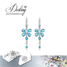 Destiny Jewellery Crystals From Swarovski Earrings Flower Long Earrings