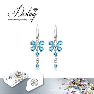 Florecen del destino joyas cristales de Swarovski pendientes pendientes largos