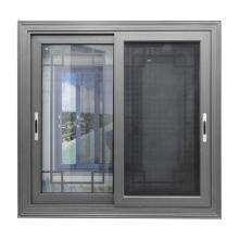 WANJIA high quality aluminum double glass window aluminum sliding windows