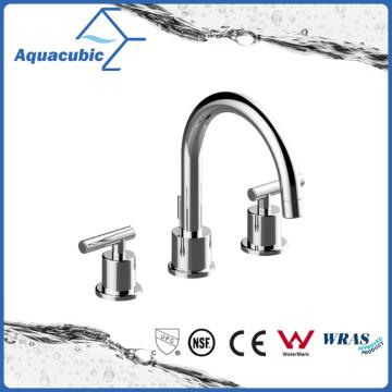 Chromed Metal Body Zinc Alloy Handle 3 Hole Faucet (AF8162-6)