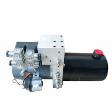 DC hydraulic power unit for snow sweeper
