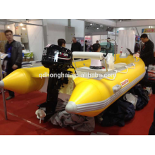 inflable barco de motor de fibra de vidrio