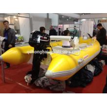 barco inflável do motor da fibra de vidro