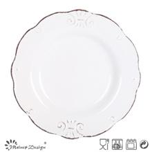 19.5 см керамический салат пластины тиснением дизайн