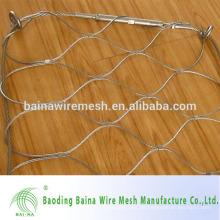 Flexibles Ferruled Edelstahl Draht Mesh / ss Drahtseil Mesh Netz in China hergestellt