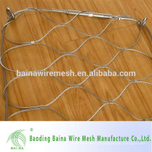 Malha de arame de aço inoxidável flexível e ferrugada / rede de malha de fio de aço ss fabricada na China