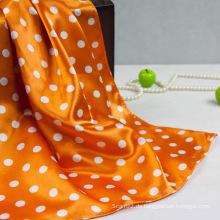 Polyester Farbe Gelb DOT Kleiner Schal