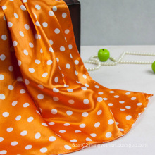 Polyester Color Yellow DOT Small Square Scarf