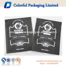 Flat bag matt black coffee bag sauce sachet
