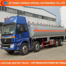 Capacidade grande de 4 eixos 25000 litros de caminhão do depósito de gasolina para a venda