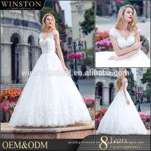 2016 modelos blancos a estrenar calientes del vestido de boda del fishtail de la venta el 100%