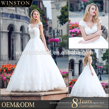 2016 venda quente 100% novos padrões de vestidos de casamento de peixe branco