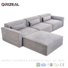 Salon de meubles en tissu sectionnel définit un canapé modulaire moderne
