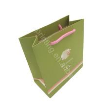 ¡Forma modificada para requisitos particulares! La bolsa de papel verde más nueva del diseño más nuevo