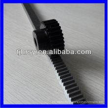 Rack e engrenagem de aço padrão de alta precisão para máquina CNC