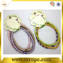 Cordón de pelo bungee elástico colorido de 5 mm para niños