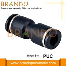 1/8 '' 1/4 '' PUC Union Encaixes de mangueira pneumática reta