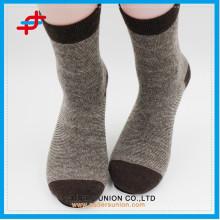 Angora Wolle neuen Stil Kaffee mit cremefarbenen Stricken lässig warmen maßgeschneiderten Logo Socken