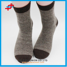 Angora wool new style coffee with cream-colored knitting casual warm customized logo socks