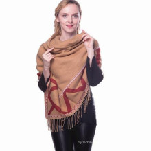 Las mujeres de moda aman la tela escocesa de gran tamaño cuadrado Shenqu skiny whosale de lujo 100 borlas turcas bufandas a cuadros chales pashmina