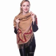 Mode femmes aiment carreaux surdimensionné carré Shenqu skiny luxe whosale 100 turc glands écharpes à carreaux châles pashmina