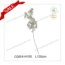 L135cm Plastic Snow Feel Pine Branch Branch Flocked