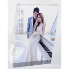 2017 Кристалл цветной печати фото Рамка для свадьбы пользу и украшения