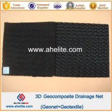Virgen HDPE Geonet Core Geocomposite Red de drenaje