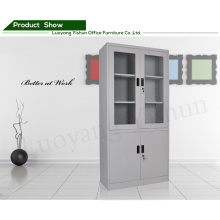 metal furniture bookcases double doors cabinet Glass door file cabinet
