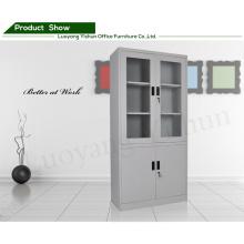 estantes de móveis de metal armário de portas duplas Armário de arquivo de porta de vidro