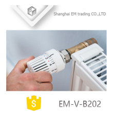 EM-V-B202 Standard Thermostatic Brass Angle Radiator Valve