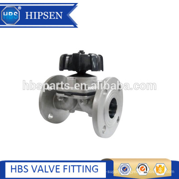 stainless steel diaphragm valve with flange connection