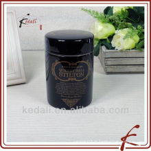 Venda Por Atacado Black Porcelana cosméticos Candy Cream Storage Jar